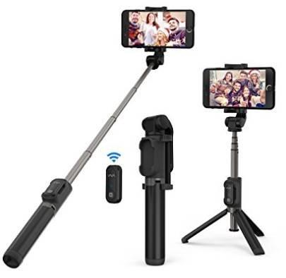 VAVA 3-in-1 Selfiestick Stativ mit Bluetooth-Fernauslöser für 14,69€ (statt 20€)