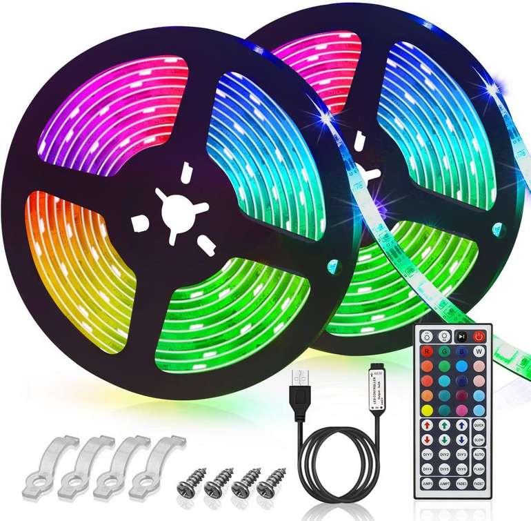 Glime 6m LED Streifen (6 Modi, 44 Tasten Fernbedienung) für 7,65€ inkl. Prime Versand (statt 17€)