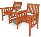 Deuba - 2-Sitzer Akazienholz Gartenbank mit Tisch für 71,95€ inkl. VSK