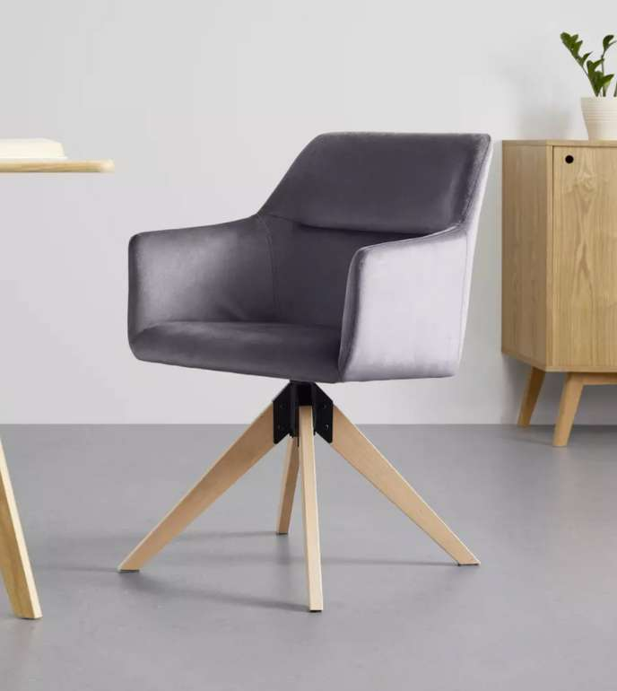 "Bessagi Home Stuhl ""Sara"" in dunkelgrau für 47,25€inkl. Versand (statt 65€)"