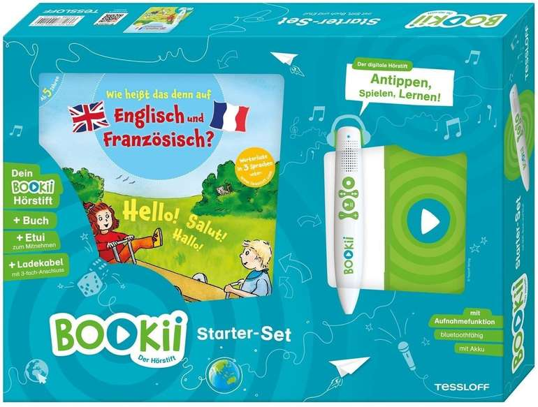 """BOOKii Starterset: """"Wie heißt das denn auf Englisch und Französisch?"""" für 27,99€ inkl. Versand (statt 43€)"""