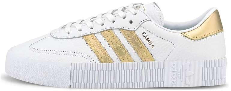 """Adidas Sambarose W Damen Sneaker in """"cloud white/gold"""" für 71,96€inkl. Versand (statt 99€)"""