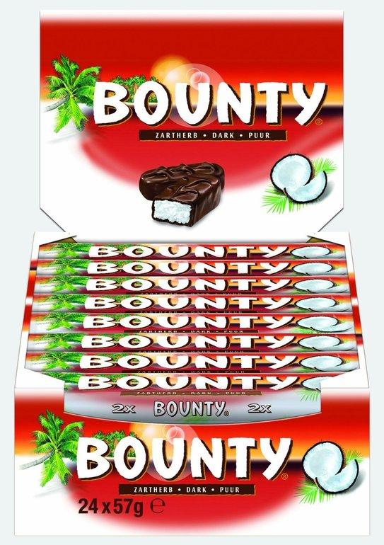 24 Riegel Bounty Zartherb (24 x 57g) für 7,99€ mit Prime (statt 15€)