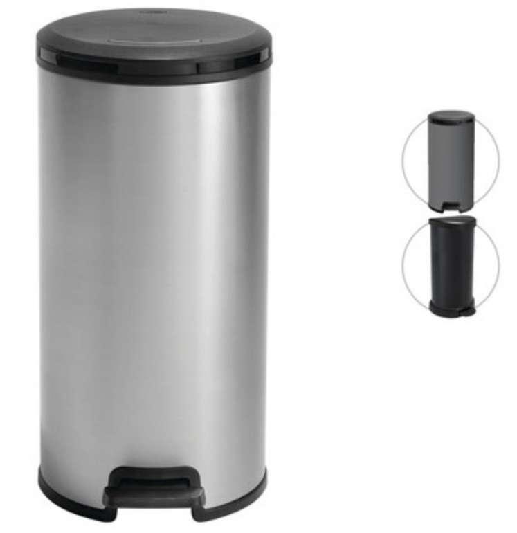 Curver Deco Round Pedal Abfalleimer (30 Liter, Mit SoftClose) für 25,90€ inkl. Versand (statt 46€)