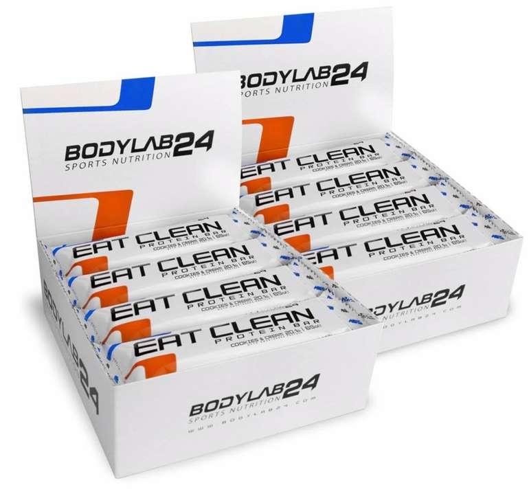 24x Bodylab24 Eat Clean Protein-Riegel Cookies & Cream für 22,99€ (statt 36€)