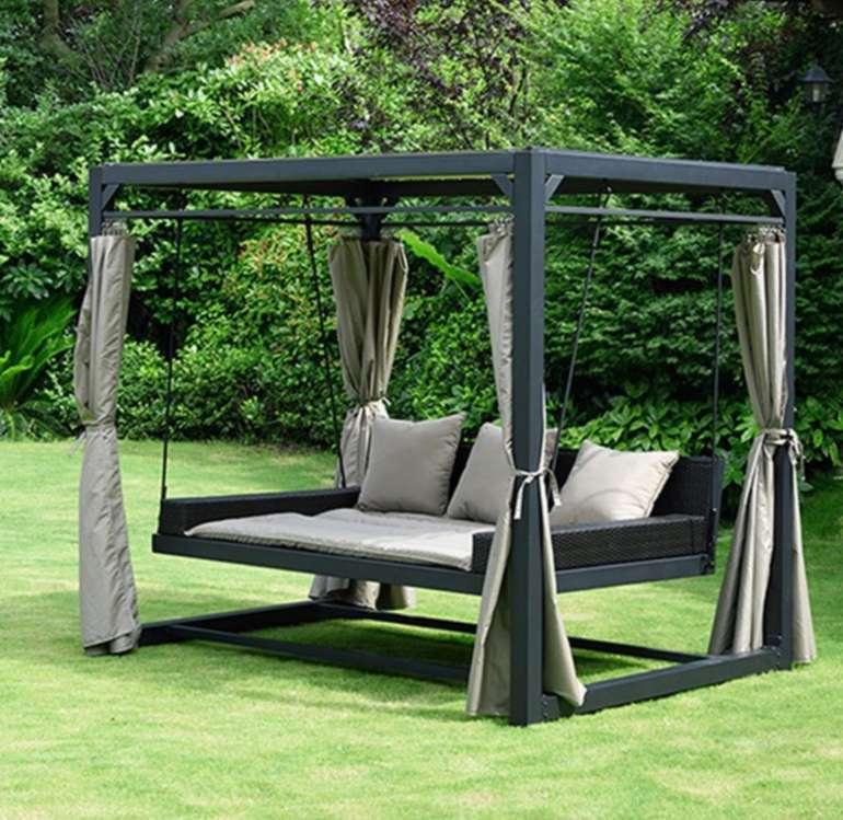 Home Deluxe Pavillon Provence mit Bett in Rattan-Optik für 779,99€ inkl. Versand (statt 999€)