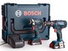 Bosch Blue Combi Drill Bohrschrauber + Schlagschrauber + 2x 2,0 Ah Akku für 229€