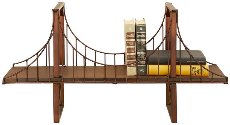 Modern Living Wandregal im Brücken-Design für 27,93€ inkl. VSK