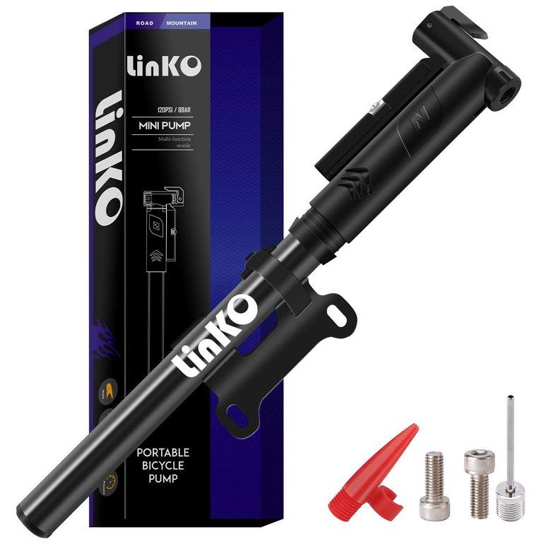 Linko Mini Fahrradpumpe mit Manometer für Presta & Schrader Ventile nur 4,61€ (Prime)