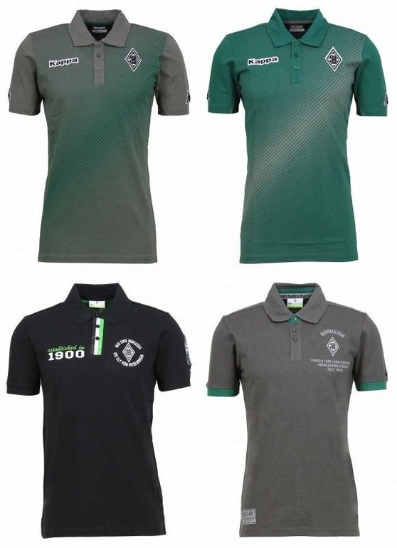 Borussia Mönchengladbach Herren Poloshirts für je 25€ inkl. Versand