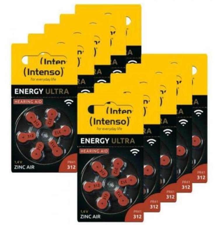 60er Pack Intenso Energy Ultra Typ 312 Zink-Luft Hörgerätebatterien für 9,99€ inkl. Versand (statt 12€)