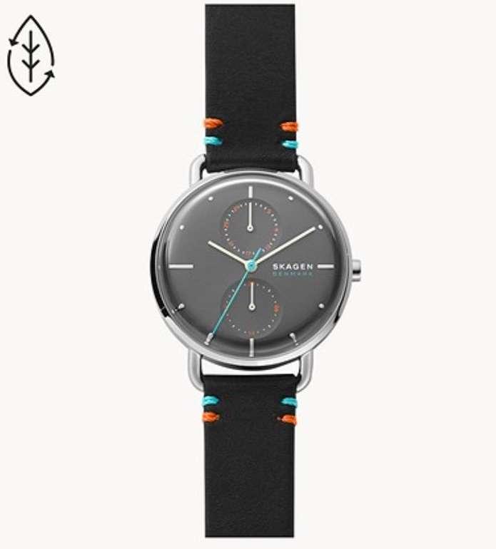 Skagen: 30% Rabatt auf Sale und Outlet - z.B. Multifunktions-Armbanduhr Horizont mit Lederarmband für 72,80€