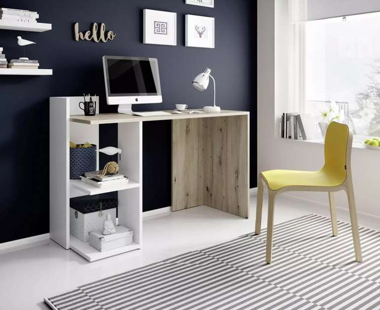 """Mömax Schreibtisch in Weiß/Eiche """"Paco"""" für 46,38€ inkl. Versand (statt 60€)"""