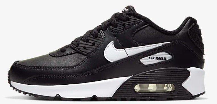 Nike Air Max 90 LTR (GS) Sneaker in black/white/black für 54,08€ inkl. Versand (statt 80€) - Größe 36 bis 40!