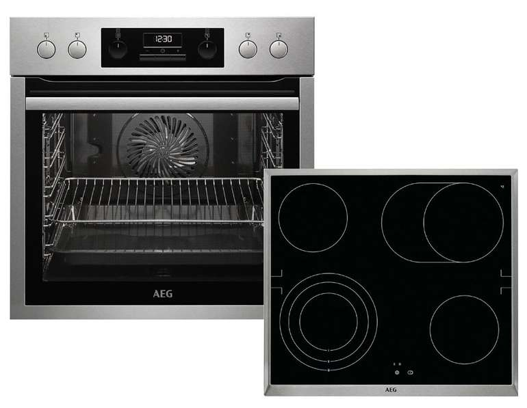 AEG HB3013MS31 Einbauherd-Set mit Glaskeramik-Kochfeld für 509€ inkl. Versand (statt 684€)