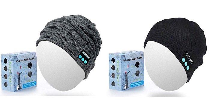 Jiamus Mütze mit integriertem Kopfhörer + Mikrofon für 9,49€ mit Prime