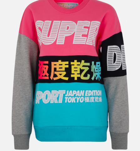 """Superdry Damen Sport-Sweatshirt """"Japan Edition Crew"""" für 50,92€ (statt 60€)"""