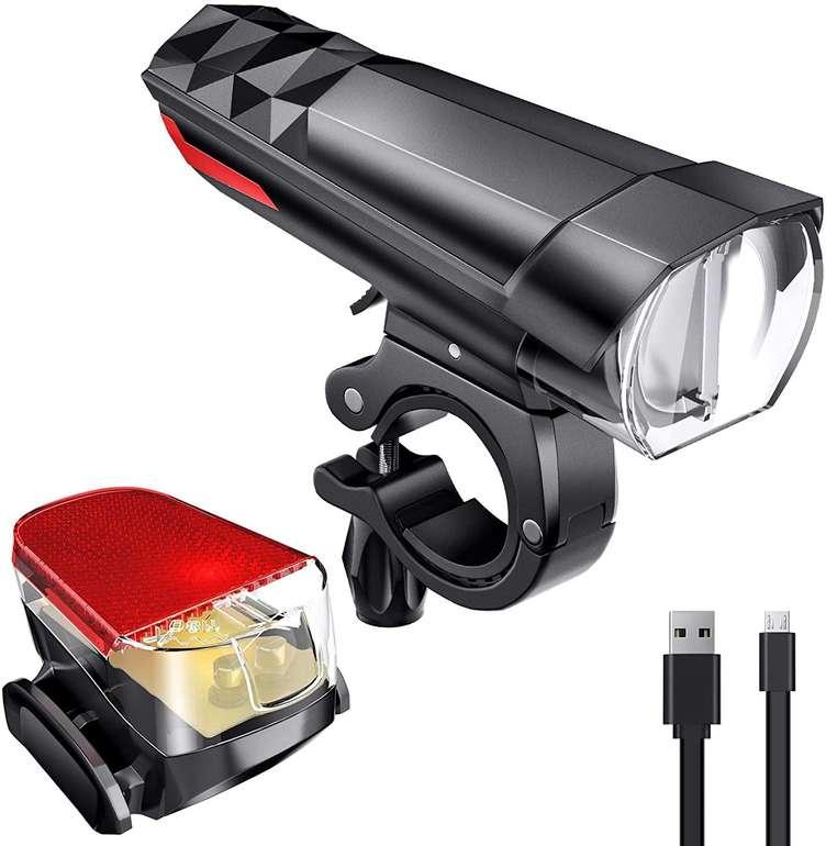 Fylina aufladbare LED Fahrradbeleuchtung im Set für 8,49€ inkl. Prime Versand (statt 17€)