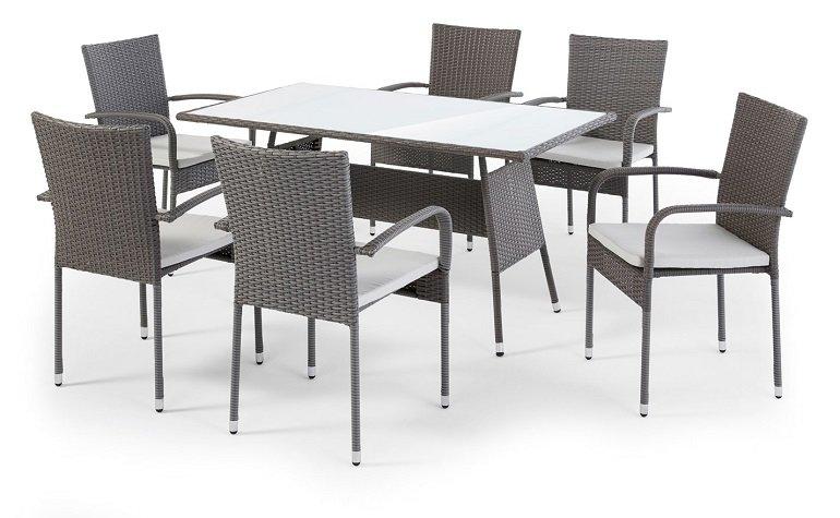 Top! 7-teiliges Living BPC Polyrattan Gartenmöbel Set für 323,98€ inkl. Versand (statt 500€)