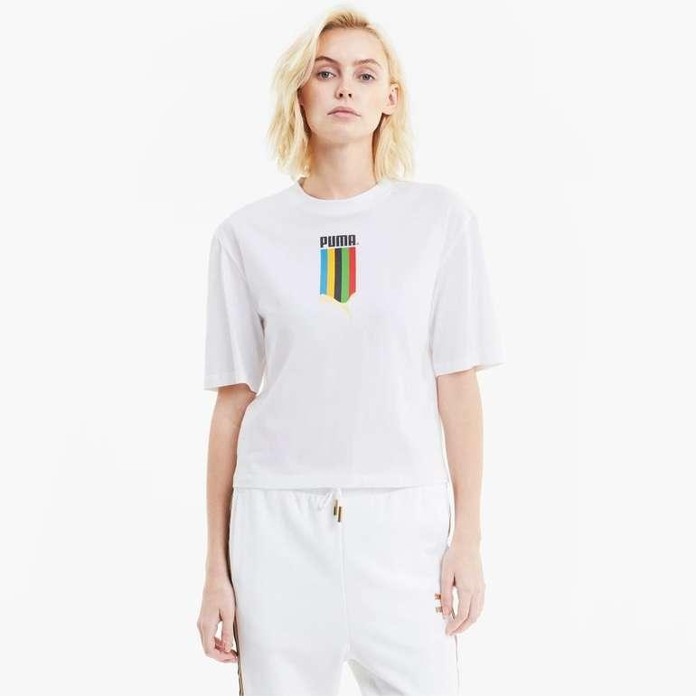 Puma TFS Graphic Regular Damen Shirt in 2 Ausführungen für je 11,96€ inkl. Versand (statt 18€)