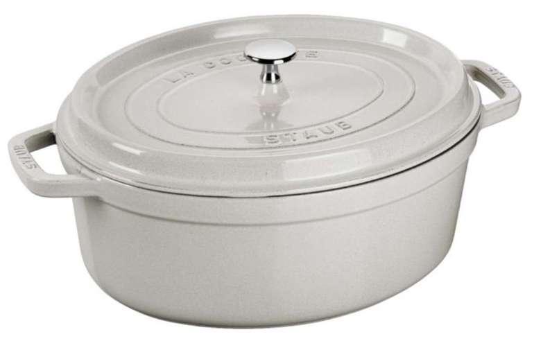 Staub Bräter Cocotte 33cm oval (Volumen: 6,7 l, Gusseisen, Induktion geeignet) für 142,95€ (statt 184€)