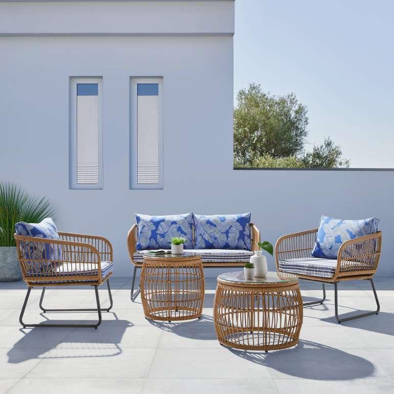 Bessagi Garden Loungegarnitur 'Lorella' aus Polyrattan für 419,30€ inkl. Versand (statt 599€)