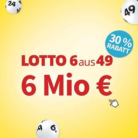 12 Felder Lotto 6aus49 (6 Mio. € Jackpot) + Spiel 77 für 9,90€ (statt 14,50€)