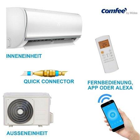 comfee MSAF5-09HRDN8-QE Split-Klimaanlage (heizen ebenfalls möglich) für 499,90€
