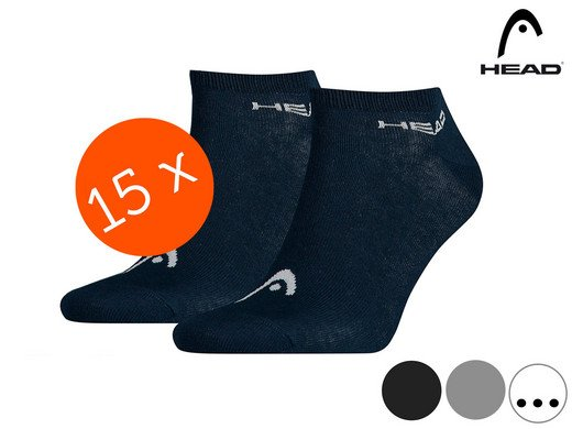 15er Pack HEAD Basic Sneakersocken für 22,90€ inkl. VSK