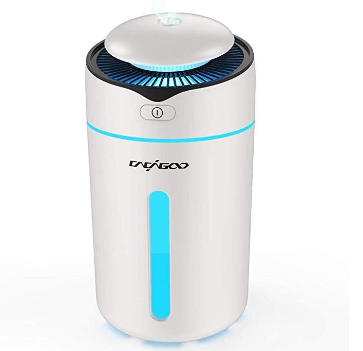 Cacagoo Mini Ultraschall Luftbefeuchter (300ml, LED-Lichter) für 11,98€ (Prime)