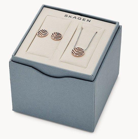 Skagen Sale mit 30% Extra Rabatt - z.B. Set Damen Halskette + Ohrringe Elin für 30,80€ (statt 51€)