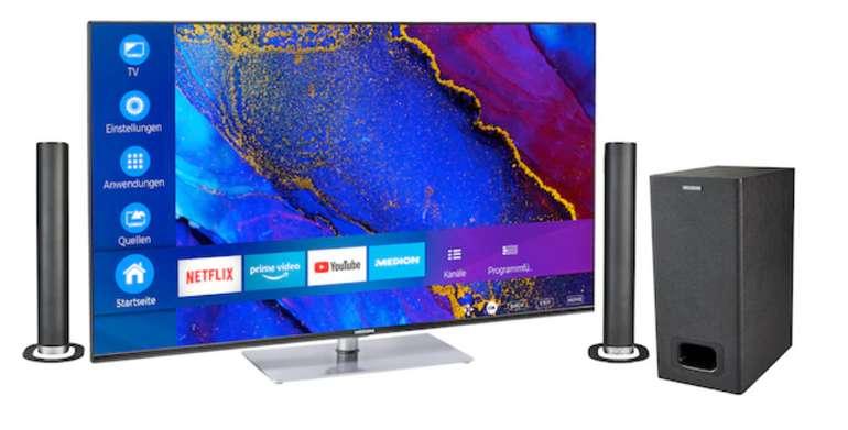 Medion Life® X16564 (65'') Ultra HD Smart-TV + P61220 TV-Soundbar für 699€ inkl. Versand (statt 799€)