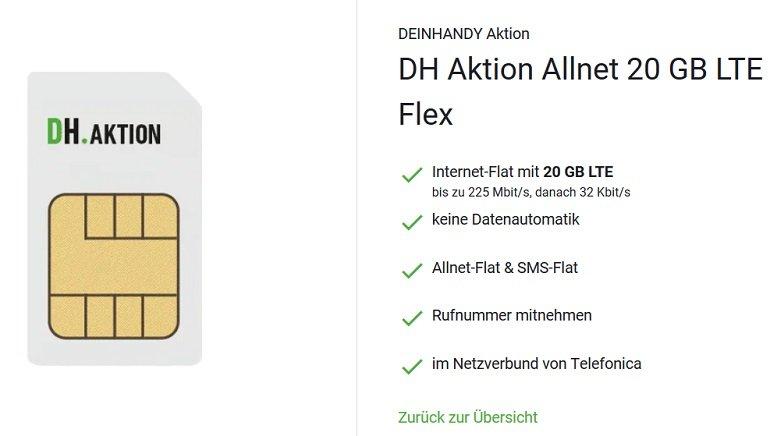 DeinHandy o2 Allnet-Flat mit 20GB LTE