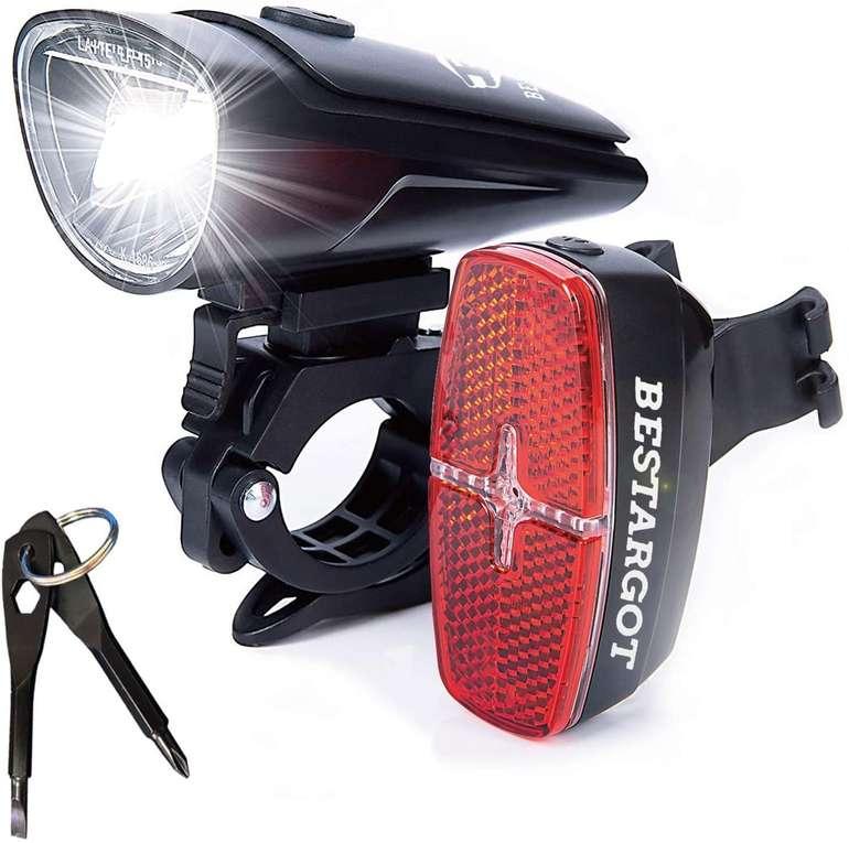 Bestargot LED Fahrradbeleuchtung im Set für 16,02€ inkl. Prime Versand (statt 20€)
