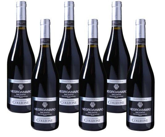 6er Paket Antica Masseria Colleone – Negroamaro – Salento IGT Rotwein für 25,93€