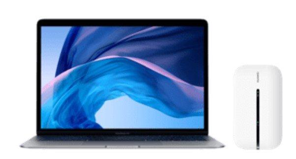 Top! MacBook Air 13 mit i3, 8GB RAM, 256GB SSD (60€) + Mobile Router + O2 Free Unlimited Max Tarif für 59,99€ mtl.