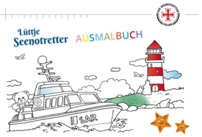 Gratis: Lüttje Seenotretter Ausmalbuch kostenlos bestellen