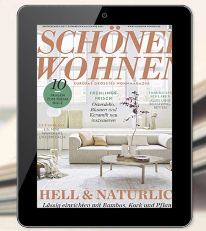 Schöner Wohnen E-Paper Jahresabo für 39,17€ (statt 50€) + z.B 40€ Zalando Gutschein!