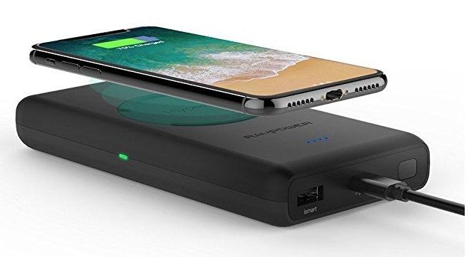 RAVPower - Wireless Qi Powerbank mit 10.400mAh für 29,99€ inkl. VSK