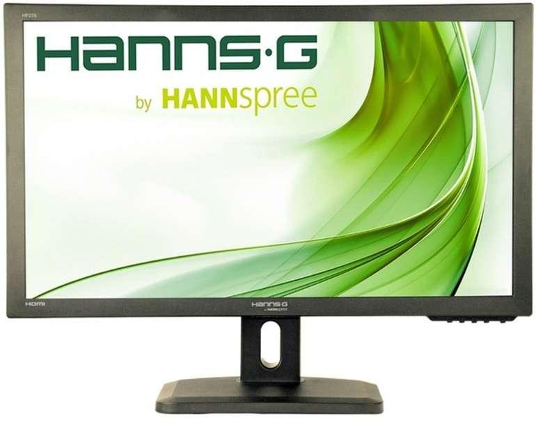 """HANNspree HP278UJB - 27"""" Full HD LED Monitor mit Pivot Lautsprecher & Höhenverstellung für 129,90€"""