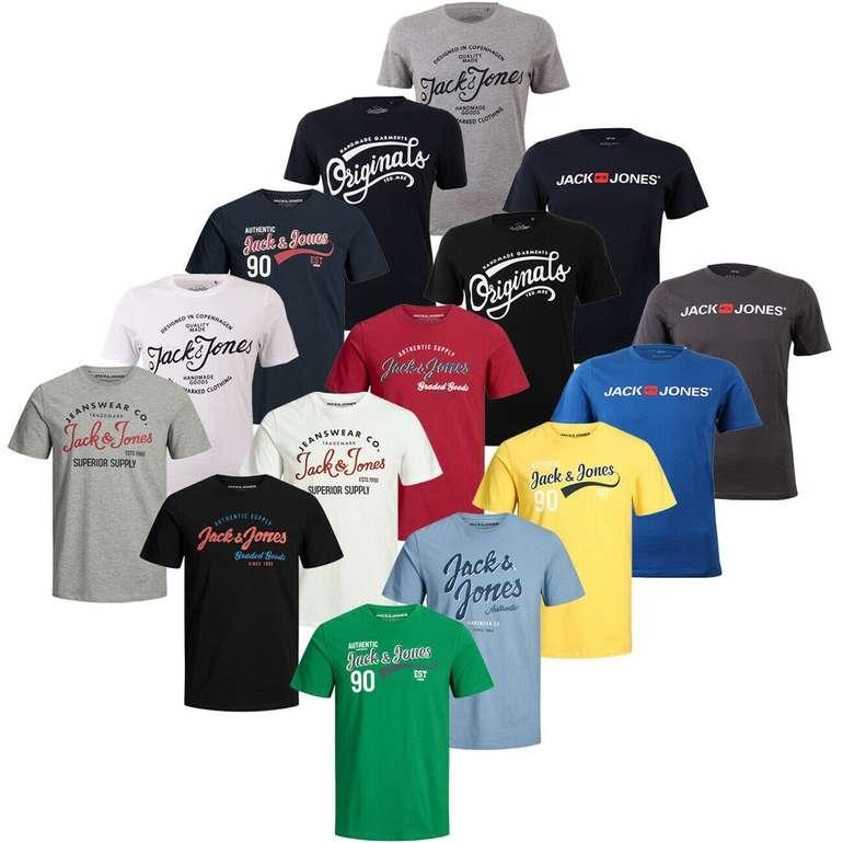 Jack & Jones JJELOGO Herren Rundhals T-Shirts (versch. Modelle) für je 9,49€ inkl. Versand (statt 12€)