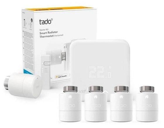 tado° Smart Starter Kit V3+ mit 5 Thermostaten und Funk-Temperatursensor für 299€ (statt 415€)