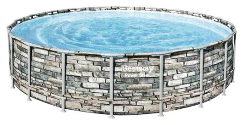 Bestway Power Steel Stone Aufstellpool / Framepool-Set (610 x 132 cm) für 688€ inkl. Versand (statt 1.013€)