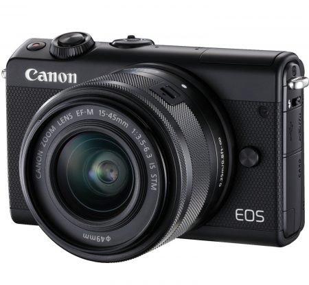 Foto Weekend bei Saturn, z.B. Canon EOS M100 mit 15-45 mm Objektiv für 249€