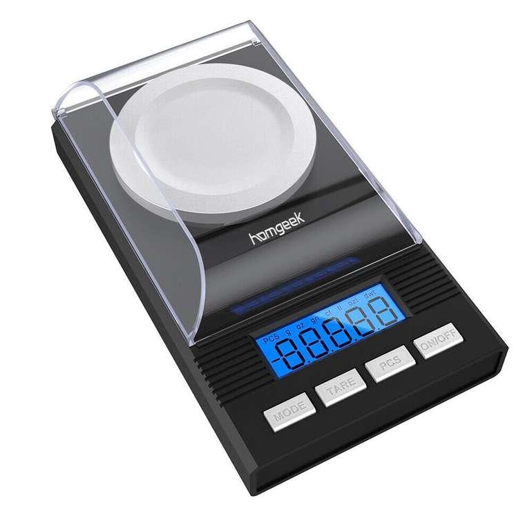 Homgeek - Digitale Feinwaage mit 0,001g Genauigkeit für 16,99€ inkl. Versand (statt 19€)