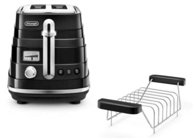 De'Longhi Avvolta CTA 2103.BK - 900 Watt Zweischlitz-Toaster für 35,99€ (statt 87€)