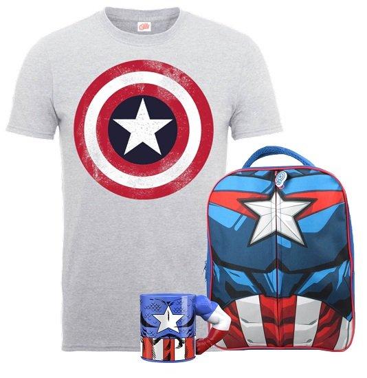 Captain America Rucksack + T-Shirt + Tasse für 16,99€ (statt 52€)