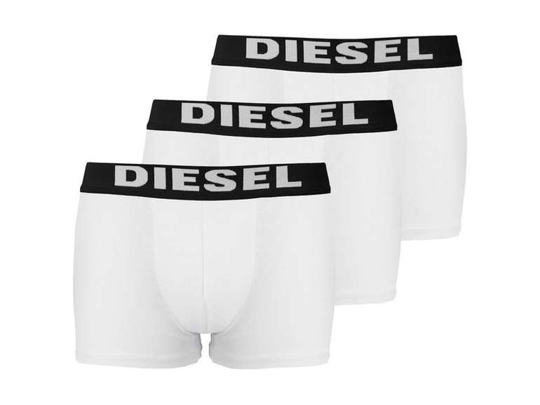 9er Pack weiße Diesel Herren Boxershorts für 59,97€ inkl. VSK (statt 90€)