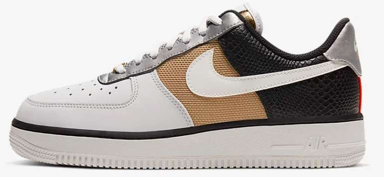 "Nike Air Force 1 '07 Damen Sneaker im ""Vast Grey/Schwarz/Metallic Gold/Sail""-Colourway für 60,97€ (statt 97€)"
