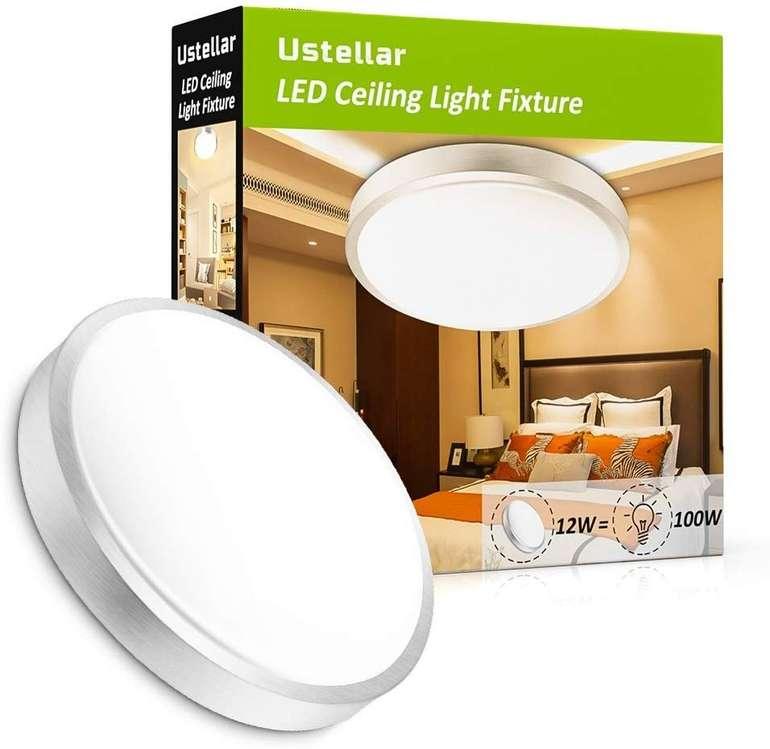 Ustellar 12W LED Deckenleuchte für 12,49€ inkl. Prime Versand (statt 25€)